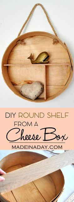 DIY Round Shelf from