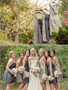 hans faden winery - napa wedding - wedding chicks - Carlie Statsky Photography - grey bridesmaid dresses by Monique Lhuillier