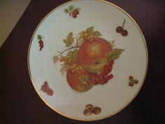 "Mitterteich Bavaria Germany DEBRA Fruit 7-3/4"" Salad Plate Apples ~ Grapes picclick.com"
