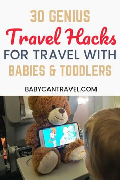 These are 30 of the most best baby travel hacks! These genius travel hacks have all been used by parents traveling with babies and toddlers. Guaranteed to make traveling with a baby or toddler easier, make sure to save these baby & toddler travel hacks! Toddler Travel, Travel With Kids, Family Travel, Travel Tips With Baby, Traveling With Baby, Traveling By Yourself, Traveling Tips, Travel Packing, Travel Hacks