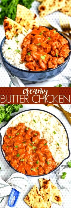 This Butter Chicken Recipe is so easy and so delicious. It is the perfect weeknight meal. Better th Healthy Indian Recipes, Indian Chicken Recipes, Healthy Chicken Recipes, Vegetarian Recipes, Ethnic Recipes, Vegetable Side Dishes, Side Dishes Easy, Spicy Rice Recipe, Butter Chicken
