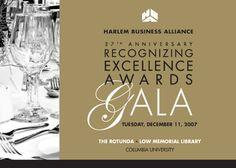 Harlem Business Alliance Gala invite Columbia University