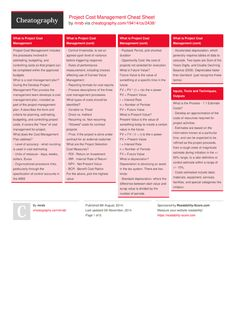 Project Cost Management Cheat Sheet by mrsb - Cheatography.com: Cheat Sheets For Every Occasion
