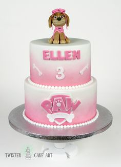 Ryhmä hau kakku tytölle. Paw patrol cake for girl
