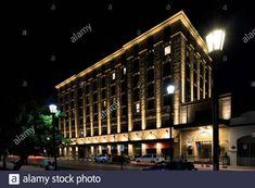 Hotel Cabo de Hornos, Plaza Armas, Punta Arenas city, Patagonia, Chile, South America Stock Photo Patagonia, Chile, America Images, Plaza, South America, Medicine, Stock Photos, Ovens, Sands