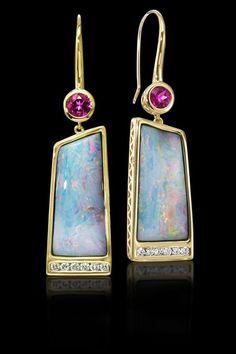 Parle Jewelry Designs boulder opal earrings