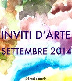 Inviti d'arte: settembre 2014