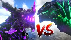 Ark Survival Evolved - GODZILLA vs LEGENDARY DRAGON GOD, WARDEN BATTLE -...