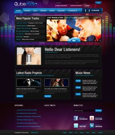 Cube Radio Station Joomla Template by Dynamic Template