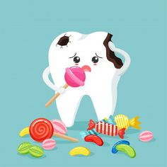Cute tooth characters feel bad in flat s... | Premium Vector #Freepik #vector #character #cartoon #face #candy Dental Logo, Dental Art, Dental Videos, Tooth Icon, Tooth Cartoon, Teeth Pictures, Cute Tooth, Medical Pictures, Big Teeth