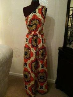 African print maxi dress by NicolaJaneFashions on Etsy, £40.00