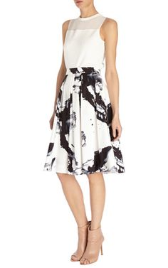 Paint printed full skirt - Karen Millen