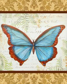Golden Tapestry Butterfly-2 Painting by Jean Plout - Golden Tapestry Butterfly-2 Fine Art Prints and Posters for Sale