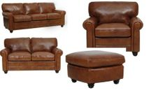 Abbyson Living Allesia 3-piece Leather Sofa, Chair and ...