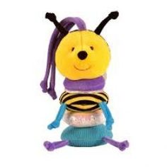 This Buzzybody bee will keep little ones entertained in their cribs and prams! Baby Presents, Baby Rattle, Prams, Christening, Baby Toys, Little Ones, Minions, Bee, Entertaining