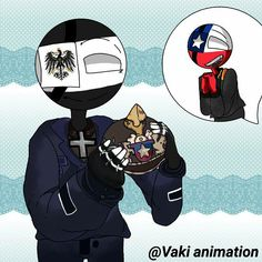 Read Chile, Nazi y prusia from the story dibujos by Vaki_animation (♥SKAl♥) with reads. Fandom, Hetalia, Country Art, Birthday Month, Chi Chi, Germany, Darth Vader, Animation, Comics