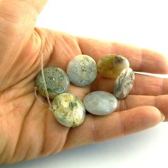 Beads Gray Puff Jasper Coin 20mm by CinLynnBeads on Etsy, $1.00