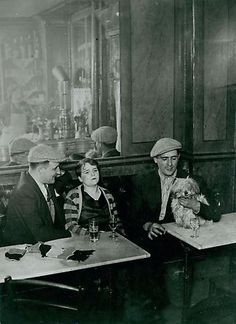 Paris Cafe Scene 1932 -- George Brassai