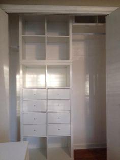 expedit closet small walk in ikea pinterest kleiderschr nke ankleidezimmer und begehbar. Black Bedroom Furniture Sets. Home Design Ideas