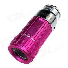 Zhishunjia Mini Car Charger Powered Rechargeable 6500K 60-Lumen Flashlight - Deep Pink (DC 12V) . . Tags: #Lights #Lighting #Flashlights #LED #Flashlights #Other #Batteries #Flashlights