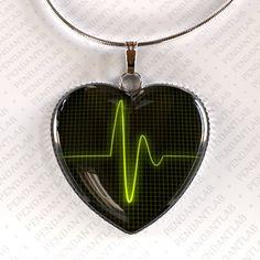Heartbeat Pendant Heartbeat Necklace Heartbeat Sign by PendantLab, $14.95 #nursing