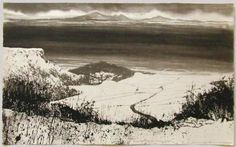 Norman Ackroyd from Sutton Bank via Brook Gallery