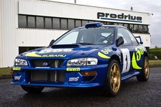 The first ever WRC-spec Subaru Impreza, built by Prodrive in has been consigned to H&H's next auction at the Imperial War Museum on 14 October. Do rally cars get any more iconic that a bright blue Subaru Impreza with the names McRae and Grist on the side? Subaru Rally, Subaru Impreza Wrc, Rally Car, Wrx Sti, Rallye Wrc, Colin Mcrae, Jdm Wallpaper, Nissan Skyline, Skyline Gtr