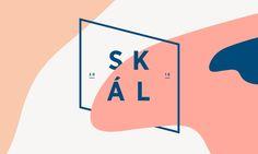 "Fictional branding for a nordic beer label. ""Skál!"" thats Icelandic for ""cheers!"" Designer Robert Gutmann"