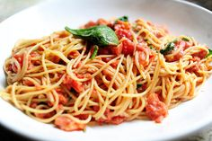 Pasta with tomato blue cheese sauce