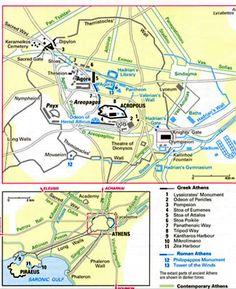 Map ancient Athens  Greek Athens 1.Lysicrates' Monument 2.Odeon of Pericles 3.Pompeion 4.Stoa of Eumenes 5.Stoa of Attalos 6.Stoa poikile 7.Panathenaic Way 8.Tripod Way 9.Kantharos Harbour 10.Mikrolimano 11.Zea Harbour  Roman Athens 12.Philopappos Monument 13.Tower of the Winds