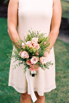 Roses and greenery: http://www.stylemepretty.com/2015/01/30/romantic-diy-winery-wedding/ | Photography: Alexandra Knight - http://alexandraknightphotography.com/