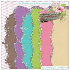 Summer Romance: Glitter Edge Cardstock - $2.09 : Digital Scrapbooking Studio Collab by #ADBDesigns & #SKrapper Digitals