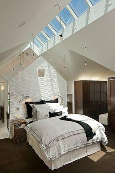 Velux Dachfenster – Dachflächenfenster im Schlafzimmer Velux roof window – roof window in the bedroom