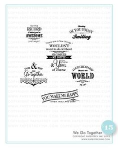 PTI - We Go Together stamp set