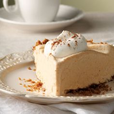 Frozen Pumpkin Mousse Pie-Dessert Recipes - Delish.com