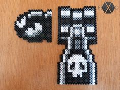 Bullet Bill and Bill Blaster - Super Mario Hama beads by floxido on deviantART