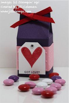 Got Love Mini Milk Carton by jillastamps - Cards and Paper Crafts at Splitcoaststampers Milk Carton Crafts, Milk Cartons, Mini Milk, Milk Box, 3d Paper, Paper Crafts, Diy Crafts, Winter Christmas, Christmas Crafts