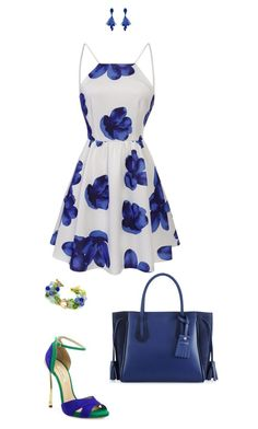 """Untitled #125"" by abmcgrath ❤ liked on Polyvore featuring Longchamp, Oscar de la Renta and Casadei"