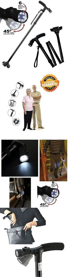 Walkers and Canes: Adjustable Folding Cane With Led Light And Cushion Handle -> BUY IT NOW ONLY: $40.61 on eBay!