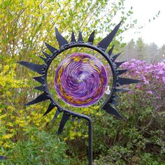 Sun Stake (hand blown glass) by gallerybyharvestgold on Etsy.com