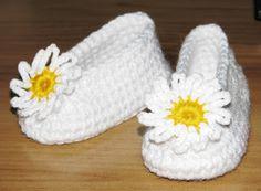 Moje pastelowe handmade ...: Szydełkowe buciki na chrzest - balerinki kościółko...