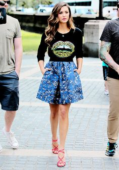 Nina Dobrev outfilming at the Central Park in New York City. (August 4)