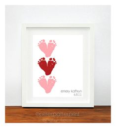 Valentines Day Gift - Baby's Footprints