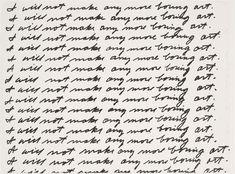 John Baldessari,I Will Not Make Any More Boring Art, 1971, lithograph, 57 x 76.4 cm (The Museum of Modern Art) © John Baldessari, courtesy of the artist