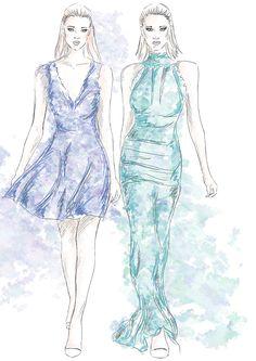 #fashion #model #illustration #skech #concept #art #artistic #dress #beauty #digital #hair #makeup