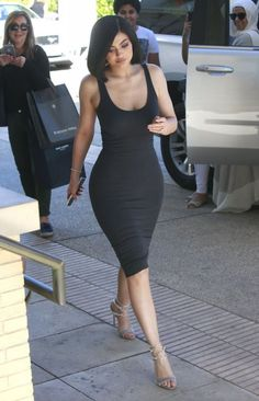 Shop Celebrity Closet: Kylie Jenner Enza Costa Tank Dress & Gianvito Rossi Velvet Darcy Sandals - http://www.becauseiamfabulous.com/2016/07/17/kylie-jenner-enza-costa-tank-dress-gianvito-rossi-velvet-darcy-sandals/