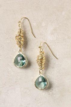 lovely turquoise earrings from Anthropologie