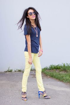 like the pastel yellow jeans best - Hello Fashion: Mellow Yellow