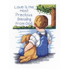 """Precious Blessing Mini Counted Cross Stitch Kit-5""""X7"""" 14 Count"""