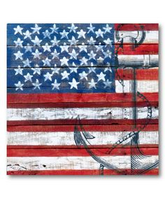 Look at this American Flag Anchor Wrapped Canvas on #zulily today!
